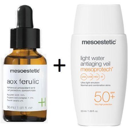 Pack Mesoestetic Aox Ferulic 30ml + Mesoprotech Light Water Antiaging Veil 50ml